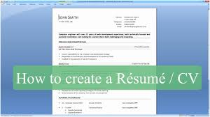 How To Build Resume On Word A Good Resume Example