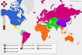 New United Mileageplus Awards Map Economy Weekend Blitz