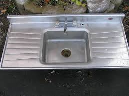 wonderful single bowl stainless steel kitchen sink with drainboard sold antique kitchen sinks