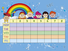 Timetable Chart Ideas 1 Weekly School Schedule Timetable 2 Creative Ideas For