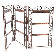 earring jewellery display stand antiqued copper 46x26cm