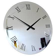 Small Picture Extra large big bevelled roman mirror wall clock UK