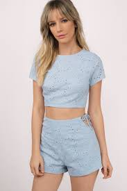Light Yellow Crop Top Counting Petals Lace Up Top