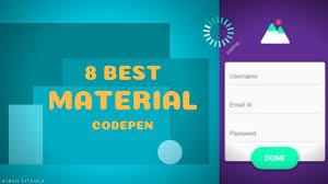 Codepen Material Design Form 8 Best Material Codepen Example 2018