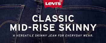 Levis Womens Classic Mid Rise Skinny Jeans