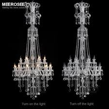 description galaxy long crystal chandelier