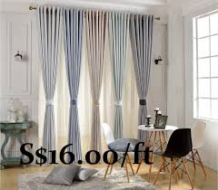 Striped Living Room Curtains Customised Curtains Mings Living