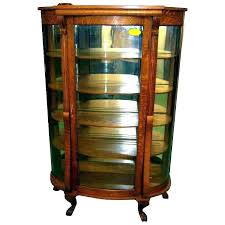 replacement curved glass for curio cabinet china value cu
