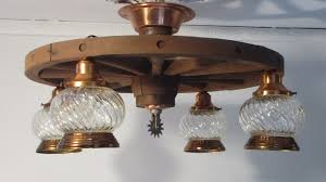wheel country western chandelier ceiling light fixture vintage wagon soothing