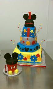 Mickey Mouse Clubhouse First Birthday Cake And Matching Ov Flickr