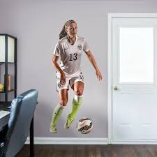 alex morgan forward life size officially licensed removable wall decal fathead