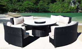 round outdoor dining sets.  Dining Alluring Round Outdoor Furniture 17 Images About Wicker Patio I  Designed Also Small Black Inspirations For Dining Sets