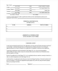Sample Work History Template 9 Free Documents Download In