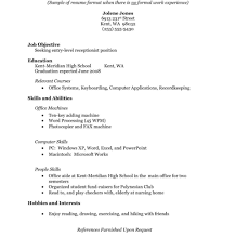 Magnificent Resume Template For High School Graduate With No Work