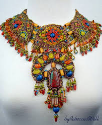 Beautiful bead embroidered jewelry by Becky Griffith | Beads Magic