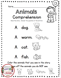 kindergarten reading and writing worksheets reading and writing back ...