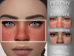 Skins: Peachy Freckles by CrownSims from The Sims Resource • Sims 4  Downloads | Sims 4, The sims 4 skin, Sims 4 toddler