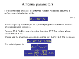 67 antenna parameters for the small loop