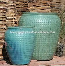 large glazed outdoor ceramic pottery