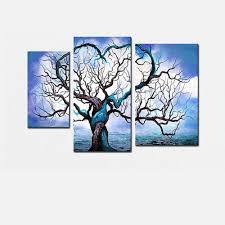 Description - Why Accent Canvas? This exquisite Blue Tree Love Landscape Canvas  Wall Art