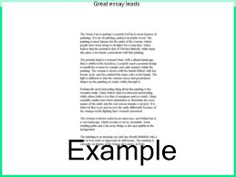 Lead Ins For Quotes Fascinating Great Essay Leads Term Paper Help