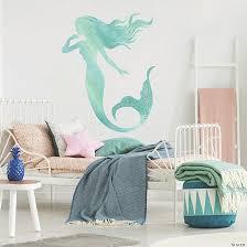 glitter mermaid l stick giant wall