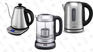 gourmia gdk290 electric glass tea kettle with built in precise steeping tea infuser 37
