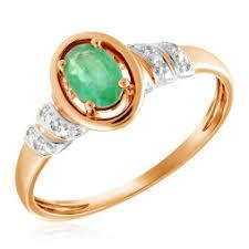 <b>Кольцо с 7 изумрудами</b> из красного золота купить - 2001290