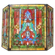 Stained Glass Fireplace Screen | eBay