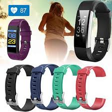 <b>Replacement Silicone</b> Sport Band Strap For ID 115 Plus Pedometer ...
