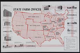 map of state farm offices in the us 1954