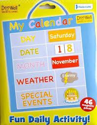 Doowell Activity Charts Doowell My Calendar Blue Small