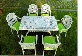 rust proof outdoor garden white patio