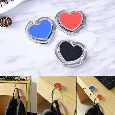 details about high quality heart diy folding purse bag handbag hook hanger holder alloys