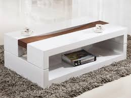 white coffee table modern  coffee table decoration