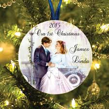 Personalised Christmas Tree Decoration  Xmas Bauble Engraved Gift Our First Christmas Tree