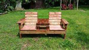 double adirondack chair plans. Buy A Custom Double Adirondack Chair With Center Table, Made To Table Plans