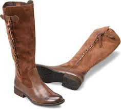 born shoes cook leather tall women s boots brown