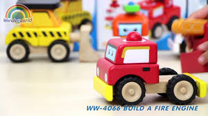 "<b>Деревянная игрушка</b>-конструктор ""Пожарная машина <b>Miniworld</b> ..."