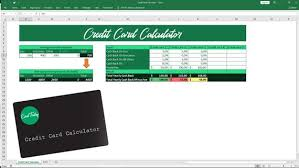 Credit Card Calculator Excel Template Compare Credit Cards