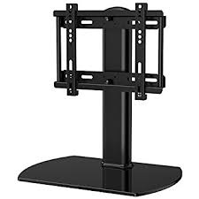 tv stand. fitueyes universal tv stand /base swivel tabletop with mount for up to 37 tv