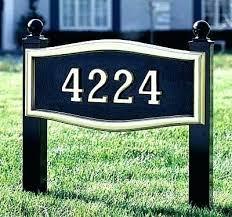 Decorative Address Yard Signs