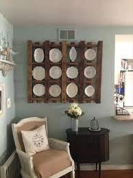 diy pallet plate rack wall display idea