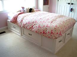White Twin Bed With Storage Drawers Underneath Inspiration In