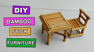how to make bamboo furniture. DIY Bamboo Stick Table And Chair - Mini Furniture #5 How To Make A