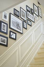 picture frames on staircase wall. Black Frames In Different Sizes Picture On Staircase Wall I