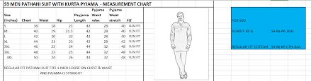 Royal Cord Sizes Chart Mens Kurta Mens Shirt Size Chart