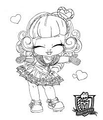 Baby Monster High Coloring Pages Baby