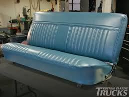 1002cct 01 o bench seat reupholstery for 1973 1987 chevy c10s finished