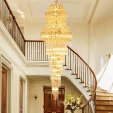 modern long crystal chandelier led lights american gold k9 crystal chandeliers lights fixture stair way home